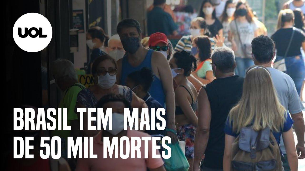 COVID-19: 50.617 MIL MORTOS NO BRASIL E 2 MILHÕES DE CONTÁGIOS NA AMÉRICA LATINA - online
