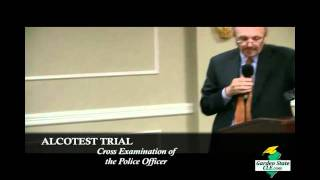 Joseph P. Rem Cross Examination of Police Officer (Mock Alcotest Trial) [Part 1/2]