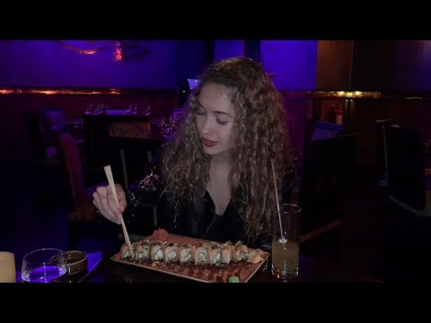 Isabel pays for Sushi with Dash Digital Cash at Buddha Bar in Caracas, Venezuela