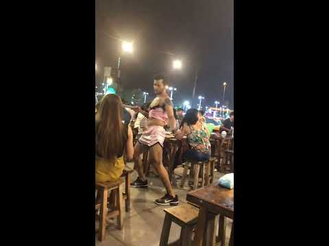 Funny dancing hunky waiters with sexy outfit in Thailand!