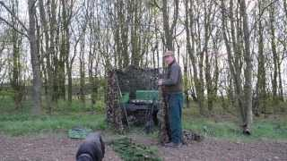 Pigeon Decoying: Carrying Equipment And Building A Hide Using An Electric Barrow