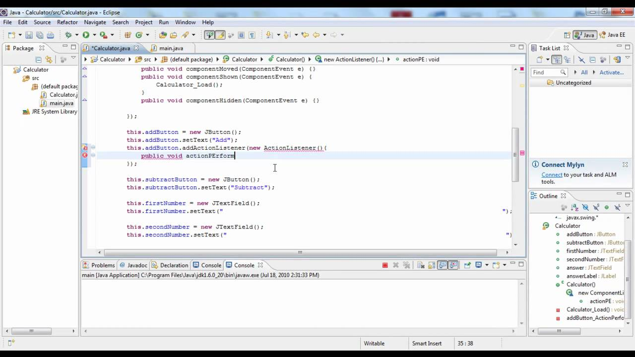 how to make a calculator in java part 2