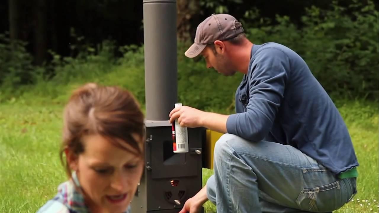 Wood Pellet Patio Heater | Outdoor Patio Heater by Wood ...