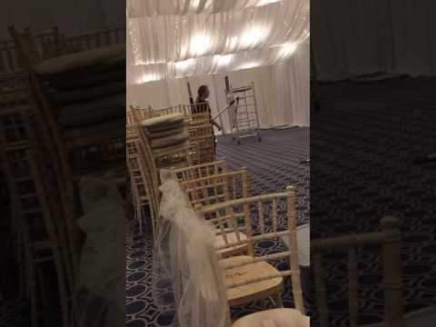 venue draping time lapse video part three