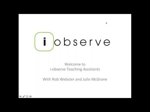 i observe Teaching Assistants