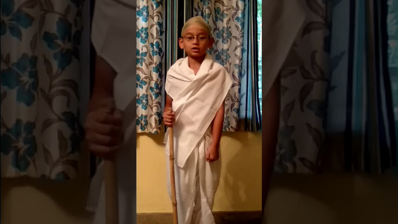 role play of mahatma gandhi in english