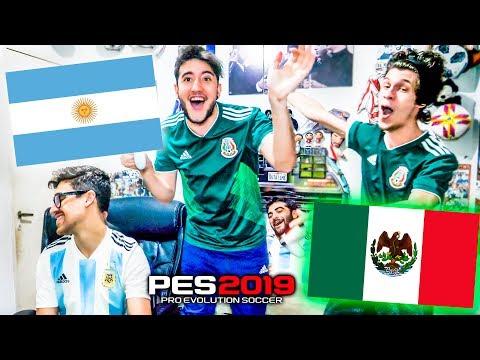 ARGENTINA vs MEXICO   Partido Internacional   PES 2019