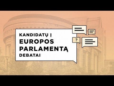 Europos Parlamento rinkimų debatai: prof. Landsbergis, Guoga ir Kontrimas