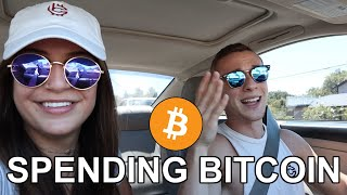 I'm the FIRST Person to Spend BITCOIN at Whole Foods & Nordstrom!!