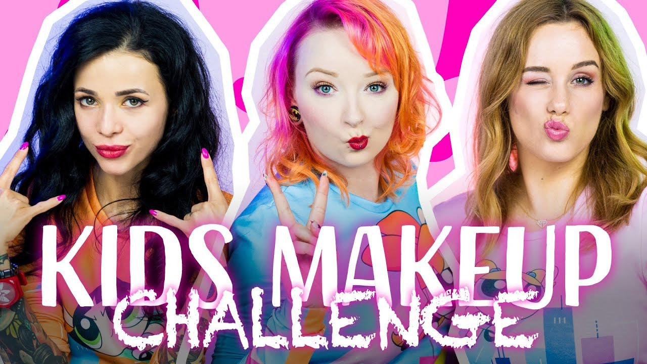 Kids Makeup Challenge z Lisim Piekłem i Mishon ♡ Red Lipstick Monster ♡