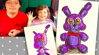 How to draw Bonnie / FNAF / Как нарисовать Бонни с Катей и РыбаКит