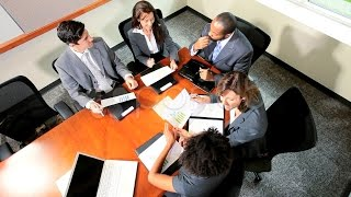 Boardroom Meeting Successful Multi Ethnic Business People. Stock Footage