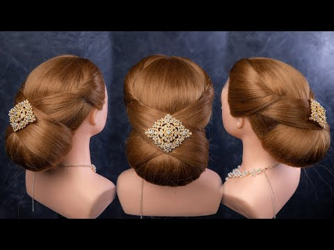 Easy Updo Hairstyle For Bridal, Party, Prom Tutorial By The Aim Hair Studio. ทรงผมออกงาน