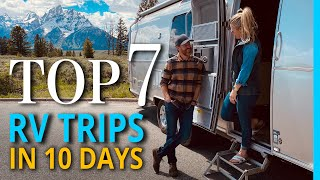 Top 7 Unforgettable Rν Trips in the USA(In 10 days!)
