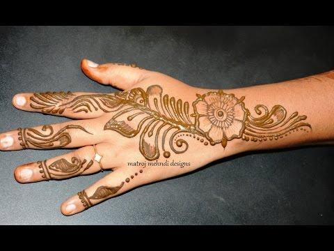 Unique Arabic Easy Simple Mehndi Henna Designs For Hands Matroj