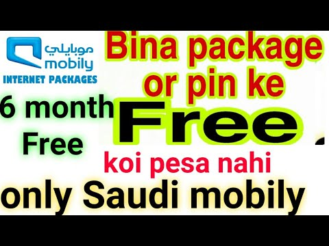 Only mobily 6 month Free Unlimited internet only saudi