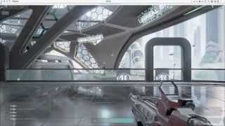 unreal engine 4, shooter game en kaos gnu/linux