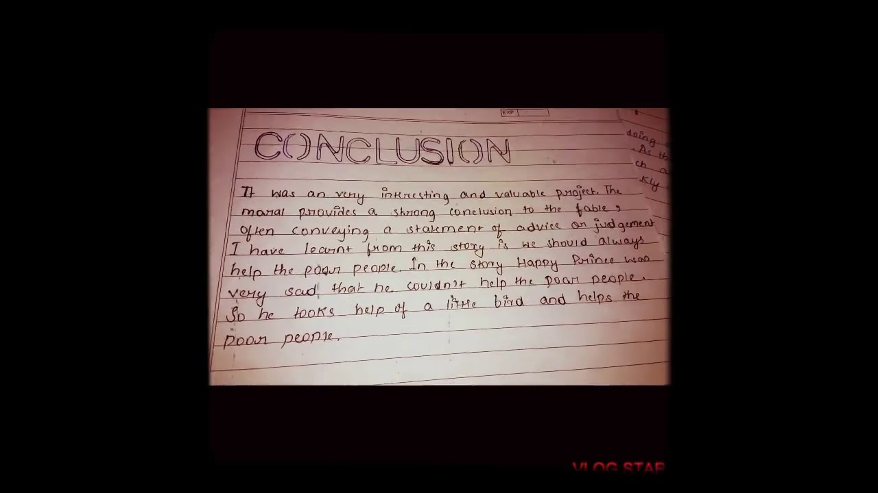 conclusion for project,how to write conclusion for Happy Prince