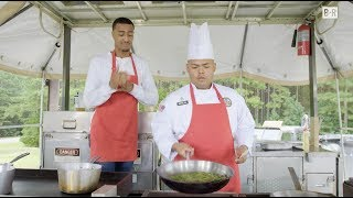 Crossover Challenge | John Collins Is Timed To Prep A Dish Like A Military Chef