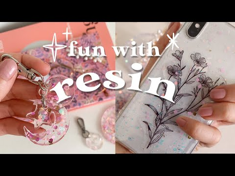Fun with Resin ✨ How to make resin crafts and easy DIY silicone mould