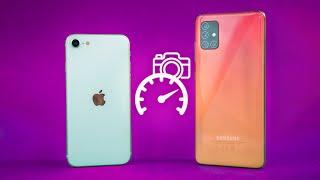 iPhone SE 2020 vs Samsung Galaxy A51- Speed & Camera Test!