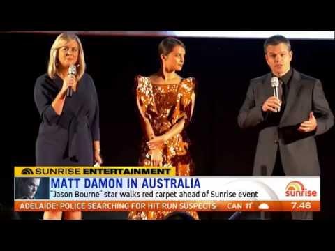 'Jason Bourne' Australian Premiere