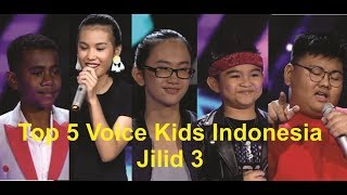 TOP 5 Voice Kids Indonesia 2018 Season 3