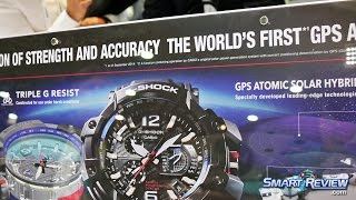 CES 2015 | Casio G-Shock Atomic Solar GPS Watches |  New GPW-1000 GravityMaster | Oceanus OCW-G1000