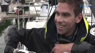 Gaston Morvan à l'arrivée de l'étape 2 - la Solitaire du Figaro