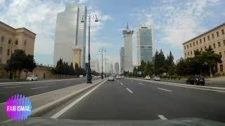 Красота да и только. По центральному проспекту города Баку
