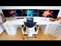 THE CRAZIEST 2017 DESK SET UP!!!