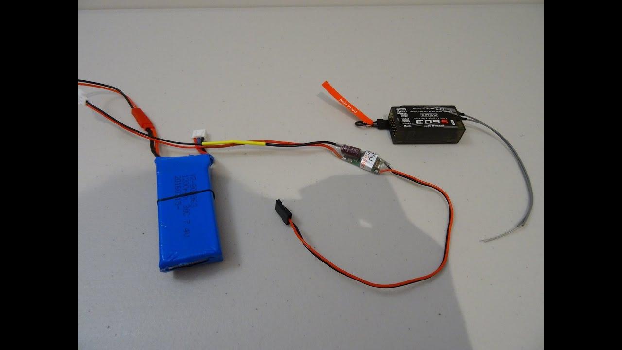 ubec 3a esc 5v power supply for receiver diy Q Brain Quadcopter Wiring