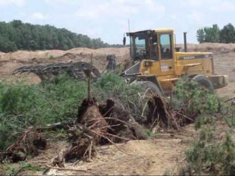Craig Manufacturing Land Clearing Rake On A Volvo Wheel