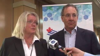 Kathleen Lausman and Serge Massicotte at the LCI-Canada conference