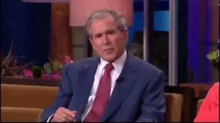 George W Bush admits to smoking WEED as young - Funny!
