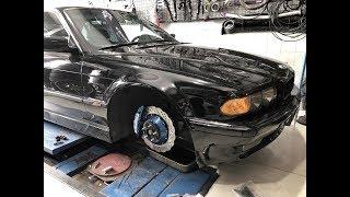 Устанавливаем мощные тормоза на BMW E38! Двигатель жестко затроил!