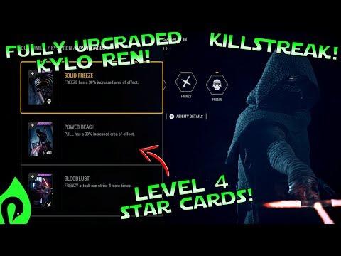 Star Wars Battlefront 2: Fully Upgraded Kylo Ren Gameplay/Streak!!!