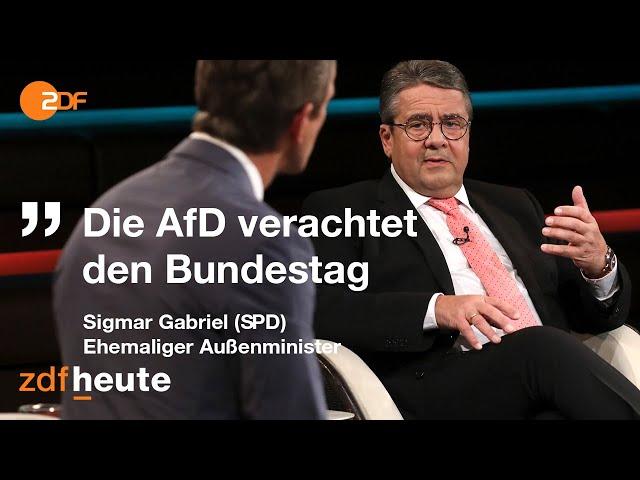 Gabriel sorgt sich um Sicherheit deutscher Politiker   Markus Lanz vom 18. November 2020