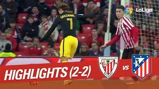 Resumen de Athletic Club vs Atlético de Madrid (2-2)