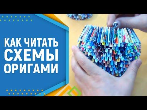 Модульное оригами. Как читать схемы в модульном оригами.