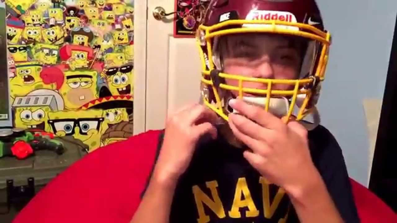 599c0e2b How to put a visor on a riddell speed flex - YouTube