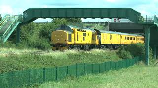 97303 & 97304 pass near Sawley with a Doncaster   RTC working 1st August 2020