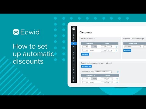 Setting up discounts – Ecwid Help Center