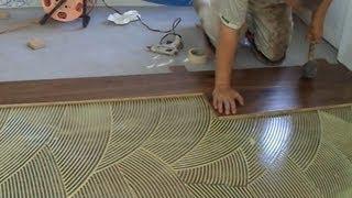 How to Install Prefinished Hardwood Floor: Glue Down Technique DIY Mryoucandoityourself