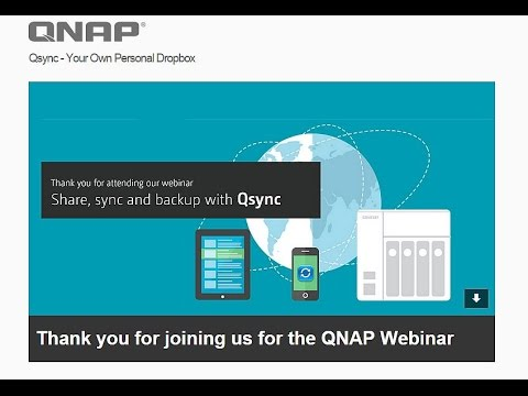 Share, Sync and Backup with QNAP Qsync Training Webinar
