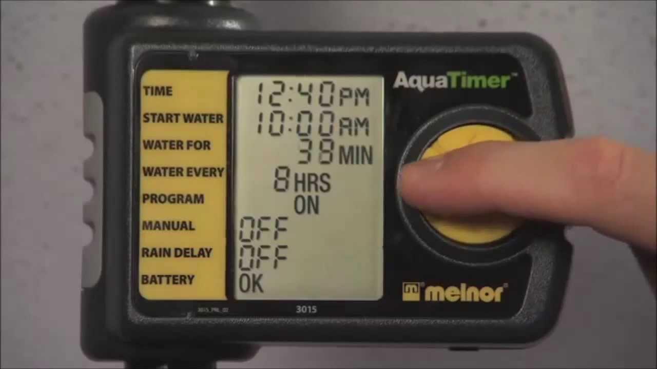 melnor aqua timer 3015 manual