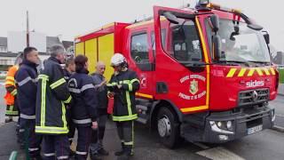 Manoeuvre des sapeurs-pompiers de Quimper au centre hospitalier- 22/01/2018