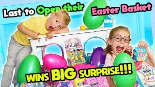Last To OPEN Their Easter Basket Wins BIG Surprise!
