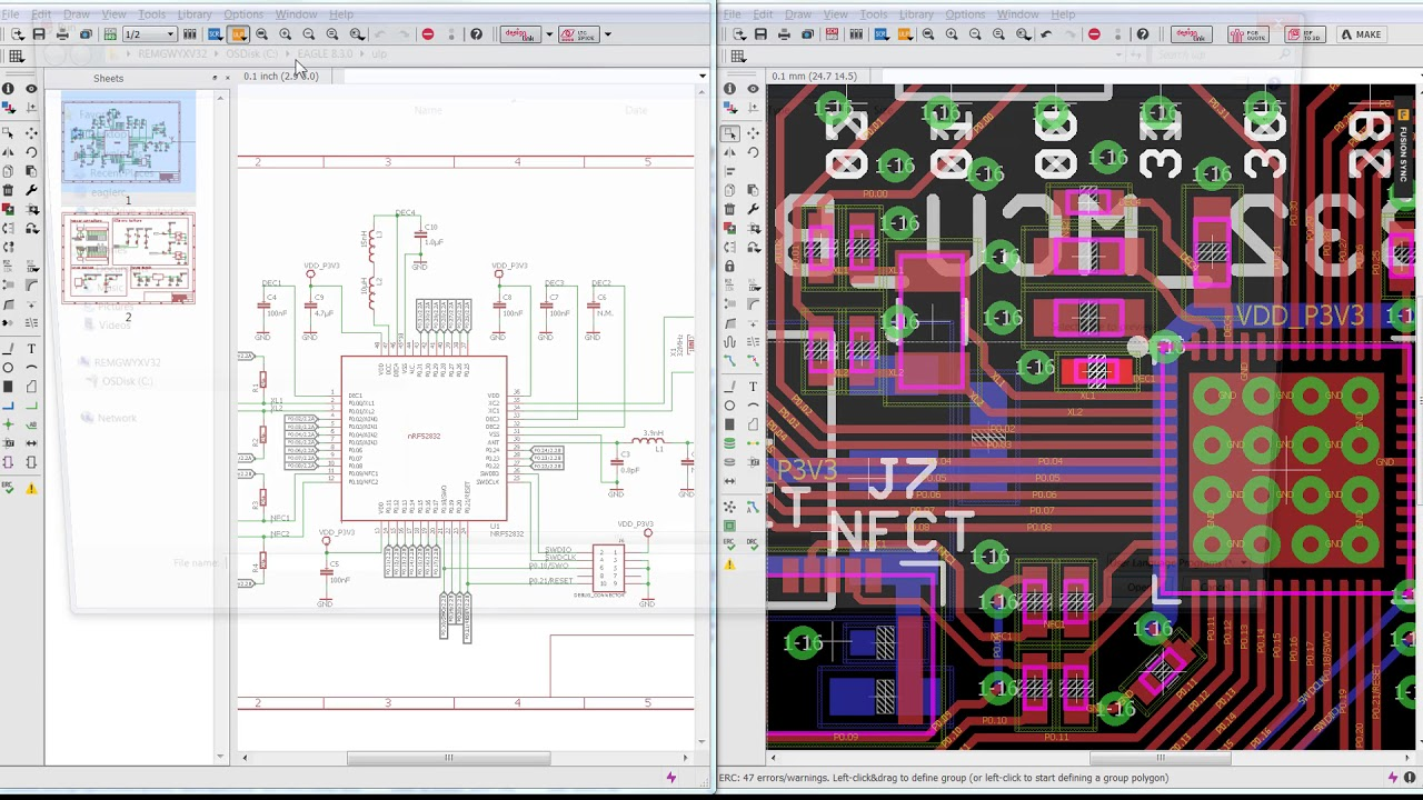 Recovering PCB Board Value Consistency - Autodesk EAGLE