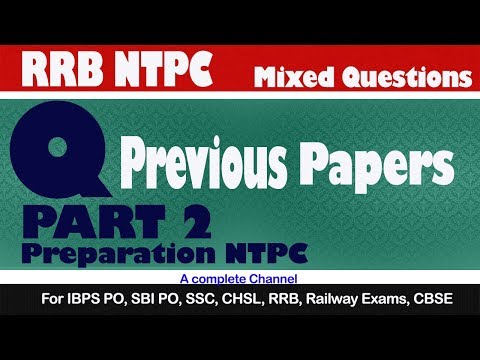 RRB NTPC Previous years questions Part 2 / Numerical ability / RRB NTPC Preparation 2019
